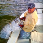 Andy Thompson with a tarpon