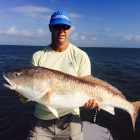 Huge redfish on fly with Andy Thompson in the Florida Keys