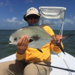 angler with fly-caught permit