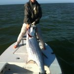 Angler with huge tarpon